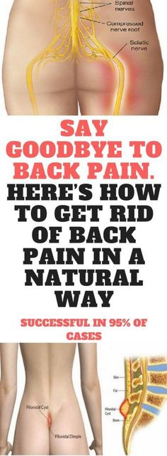 SAY GOODBYE TO BACK PAIN. HERE'S HOW TO GET RID OF BACK PAIN IN A NATURAL WAY. SUCCESSFUL IN 95% OF CASES Miraculous Display
