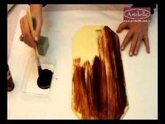 Artebella Eskitme Boyaları Antiquing Medium - Eğitmen Gülçin Göksu - YouTube