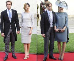 Princesa Clotilde di Savoia (de Elie Saab) e Princesa Tessy de Luxemburgo