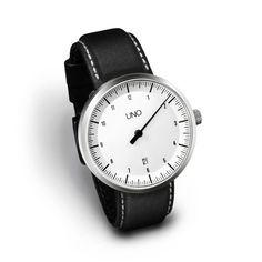 Uno Auto Leather // White Dial : By Klaus Botta | $895