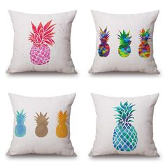 Tropic Plant Cactus Pineapple Cushion Cover  Linen Throw Pillow case Sofa DecorationBed Decorative Almofadas Cojines #Affiliate