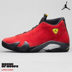 Inspired by MJ's love of an iconic sports car, the newest red suede luxurious Air Jordan 14 Retro drops this Saturday, 9/6. Hit up FootLockerUnlocked.com for all the details. #houseofhoops #approved