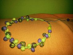 Check out this item in my Etsy shop https://www.etsy.com/listing/225123140/lime-green-violet-bead-necklace