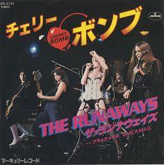The Runaways - Cherry Bomb (1976).  Japan single 45 rpm vinyl, a big hit there.