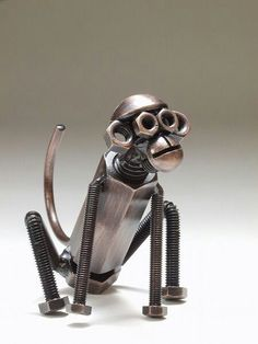Metal monkey - This has me looking at nuts and bolts in a whole new light...