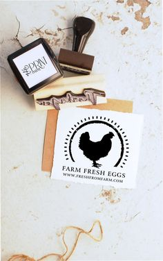 Animal Stamp Custom Rubber Stamp Farm Rubber Stamp by ThePrintMint