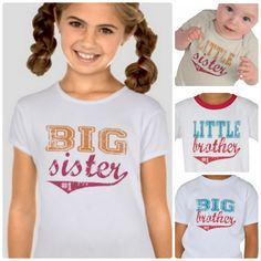 Finally!   Sporty Big / Little Brother / Sister T-Shirts