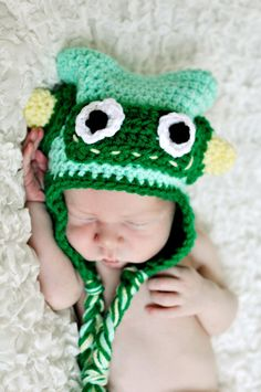 Crochet Robot Hat Toddler  child by RebeccaAnnCreations on Etsy, $20.00