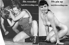 Retro Vintage 50s Women Schoolgirls Wrestling FANTASY and REALITY