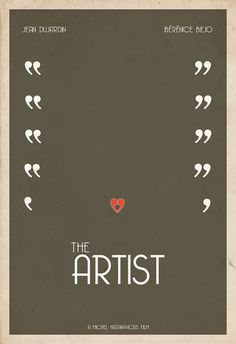 The Artist poster  2012 Best Picture Nominee Poster Series by Hunter Langston