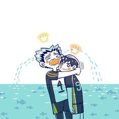 Haikyuu Funny, Haikyuu Ships, Haikyuu Fanart, Haikyuu Anime, Anime Chibi, Manga Anime, Haruichi Furudate, Haikyuu Volleyball, Tsukkiyama