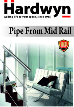 Hardwyn Stair Case (Rail Series) Products  12 MM diameter pipe for mid rail (HRBF-ACC-P-12)