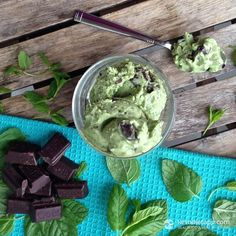 Mint Chocolate Chip Ice Cream #DairyFree  Shared on https://www.facebook.com/LowCarbZen