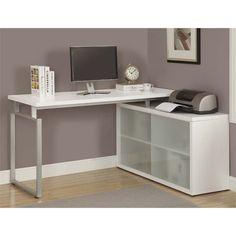 Lowest price online on all Monarch Corner Computer Desk in White - I 7036