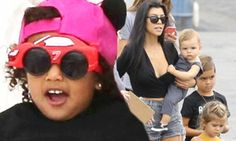 Kanye and Kourtney are on full parenting duty at Tyga's son's birthday