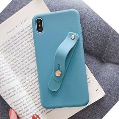 LACK Candy Color Wrist Strap Hand Band Soft Silicone Couples Cases For iphone X XS Max XR 6 6S 7 8 Plus Stand Phone Case Cover - For iphone 8Plus Stan Iphone 7 Plus, Iphone 8, Iphone Cases, Wireless Battery Charger, Couple Cases, Diy Phone Case, Iphone Models, Candy Colors, Band
