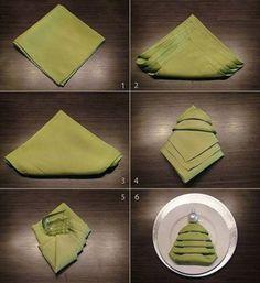decoración de Navidad casera con servilletas
