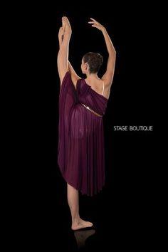 LYRICAL DRESS - POLISHED, $69, Plum Slow Modern Dance Costume, Stage Boutique, www.stageboutique.com