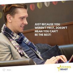 You don't have to be first! #personalBranding