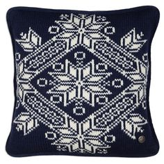 Knit Oslo Blue Pillow