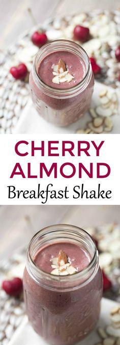 Quick and easy breakfast - Cherry Almond Breakfast Shake