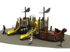 Customize this 42' x 30' structure to make a great Park Playground for your schools of kids from 2 to 12 years old.