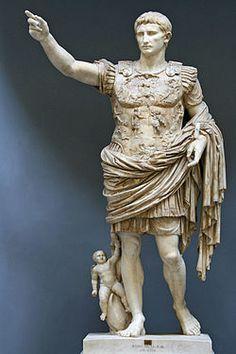 Augusto di Prima Porta Autoresconosciuto DataI secolo d.C. Materialemarmo bianco Dimensioni204 cm  UbicazioneMusei Vaticani, Città del Vaticano