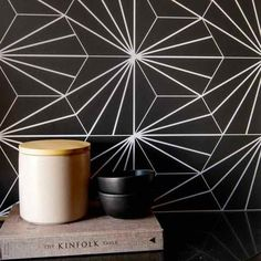 This freehand dot print is both modern and chic - an instant Chasing Paper favorite. Easy To Remove Wallpaper, Fridge Makeover, Flooring Sale, Temporary Wallpaper, Decorative Items, Wall Murals, Interior Decorating, Tapestry, Make It Yourself