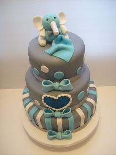 3 Tier 1st Birthday Cake Auckland caters for 50 dessert or 100-120 coffee serves $550