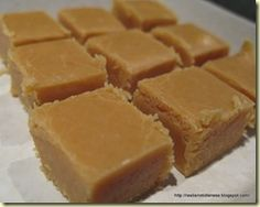 """Fabulous Fudge (Alison Holst - in microwave cookbook) from the """"Rest is not Idleness"""" blog - Alternative recipe for Microwave Russian Fudge - same ingredients and method except use. 1 Tbsp golden syrup and 2 tsp vanilla essence."""