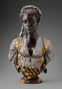 "1800s Week! Charles Cordier Bust of a Black Moorish Woman France (1856) Cordier was known for his portrait busts of subjects considered ""ethnographic"" to Europeans. Although his own attitudes toward his works and the people he depicted made little..."