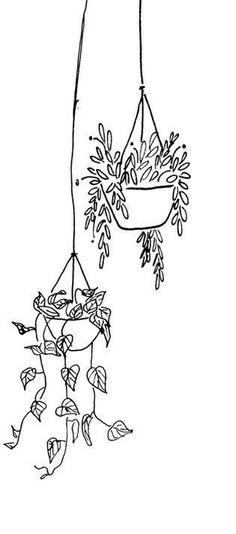 art tattoo ideas creative - art tattoo & art tattoo ideas & art tattoo minimalist & art tattoo famous & art tattoo men & art tattoo ideas artists & art tattoo ideas creative & art tattoos for women Doodle Art, Doodle Drawings, Easy Drawings, Bullet Journal Art, Bullet Journal Inspiration, Kunst Tattoos, Plant Drawing, Minimalist Art, Hanging Plants