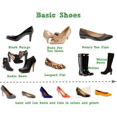 """""""Basic Shoes"""" by boardroombelles on Polyvore"""