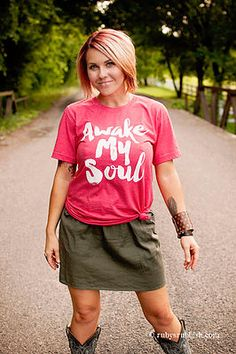 NEW Awake My Soul - Christian T-Shirt by Ruby's Rubbish $24