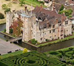 Hever Castle, Kent, UK. The childhood home of Anne Boleyn
