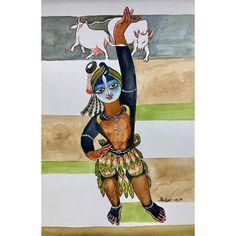 Goverdhan. #krishnafortoday #drawing #upasana #watercolour Indian Illustration, Lord Vishnu Wallpapers, Krishna Painting, Krishna Radha, Hindu Art, Lord Ganesha, Indian Paintings, Indian Art, Sketches