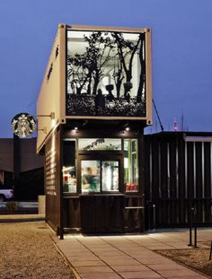 Don't know if this counts, but love the idea of this Starbucks made from shipping crates. #reuse