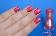 Anna Galaxy: Essense Лак для ногтей Colour and go sparkle sand effect № 156 me and my lover