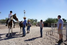 Lisa and Bill, Bobbi and Gus, Sue and I, take Remi and Bolero to their first dressage show in Tucson