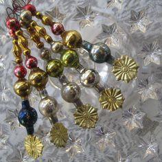 Handmade Vintage Mercury Glass Icicle Christmas Ornaments