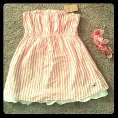 Striped Tube Top- CLOSET CLEAR OUT Pink and white stripes. Stretchy waist band  I would love to sell this in a bundle, rather than individually because of posh fees. Check out my closet, lowering lots of prices!! Lots of $5 deals! Please share   *** 25% off 3+ bundles *** No Trades Hollister Tops
