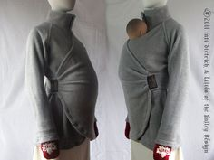 Maternity coat that turns into a baby-wearing coat. For sale on Etsy.