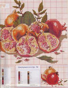 Χειροτεχνήματα: Ρόδια για κέντημα / Cross stitch pomegranates