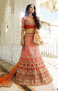 Other Women's Clothing Rational Bridal Wedding Wear Heavy Lehenga Embroidery Choli Bridal Party Ethnic Sari Set Women's Clothing