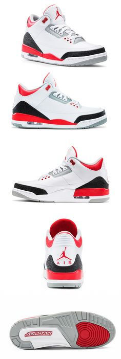 Nike Air Jordan III - got these in grey edition, up there as one of the best pairs I own! Air Jordan Iii, Air Jordan Shoes, Jordan Sneakers, Sneakers Nike, Cute Shoes, Me Too Shoes, Men's Shoes, Swag Shoes, Nike Outfits