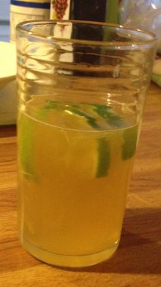Rum, honey (optional), lime and a touch of water