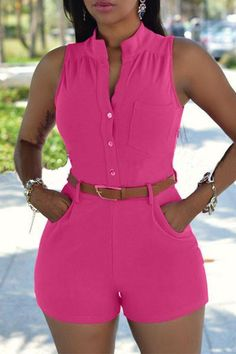 2018 Summer Sexy Playsuit Women Casual Slim Jumpsuits Rompers Short Sleeve Bodycon Playsuit One Piece Women Set Solid Bodysuit - combinaison Girls Rompers, Rompers Women, Jumpsuits For Women, Women's Rompers, Short Playsuit, Short Jumpsuit, Jumpsuit Shorts, Plus Size Playsuits, Casual Jumpsuit
