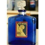 Art Deco Cobalt Blue Waltz Glass Perfume Bottle, Joubert