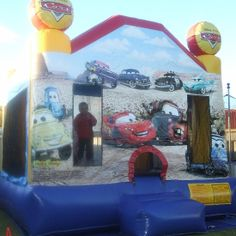Child playing inside Cars Bouncy Castle  #cars #bouncycastle #inflatablecastle #play #kids