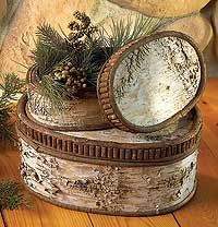 4181040102:Oval Birch Stack Boxes Set/2